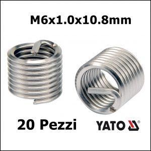 FILETTI RIPORTATI 20 PEZZI M6x1.0x10.8mm
