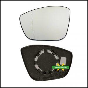 Piastra Specchio Retrovisore Asferico Lato Sx-Guidatore Per Citroen C3 III (SX) dal 2016>