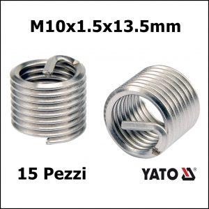FILETTI RIPORTATI 15 PEZZI M10x1.5×13.5mm