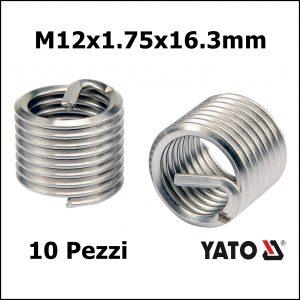 FILETTI RIPORTATI 10 PEZZI M12x1.75×16.3mm