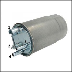 A. Filtro Carburante Gasolio art.8407 [4 becucci]