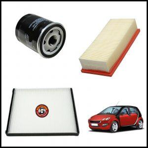 Kit Tagliando Filtri Per Smart ForFour (454) 1.100 55kw/75cv dal 2004>
