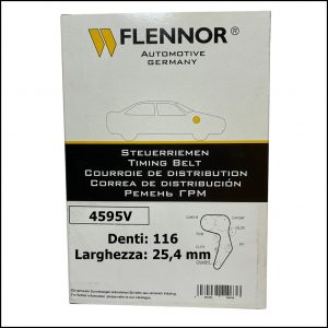 4595V Flennor Cinghia Distribuzione Volvo C30   C70   S40   S80   V50   V70   Citroen C4   C5   C8   Jumpy   Fiat Ulysse   Ford C-Max