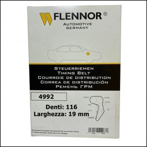 4992 Flennor Cinghia Distribuzione Citroen CX   Fiat Regata   Ritmo   Uno   Lancia Delta   Peugeot 505   Renault 18   Master   Trafic