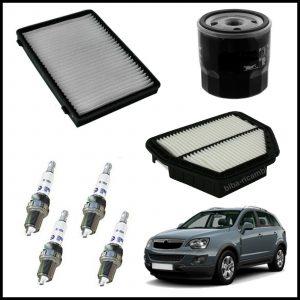 Kit Tagliando Filtri | Candele Per Opel Antara 2.400 103kw/140cv dal 2006> (Solo Benzina-No GPL/Metano)