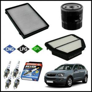 Kit Tagliando Filtri | Candele Per Opel Antara 2.400 LPG 103kw/140cv dal 2008>