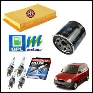 Kit Tagliando Filtri | Candele Per Hyundai Atos 1.100 43kw/58cv dal 2003>