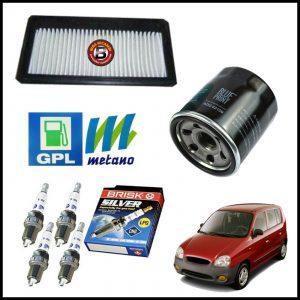 Kit Tagliando Filtri | Candele Per Hyundai Atos 1.000 40kw/54cv dal 1998>