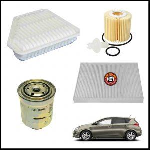 Kit Tagliando Filtri Per Toyota Auris 1.400 D-4D 66kw/90cv dal 2012>