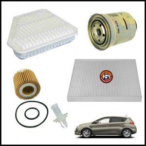 Kit Tagliando Filtri Per Toyota Auris 2.000 D-4D 91kw/124cv dal 2012>