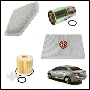Kit Tagliando Filtri Per Toyota Avensis 2.000 D-4D 93kw/126cv dal 2009>