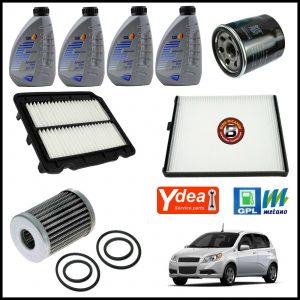 Kit Tagliando Olio | Filtri Per Chevrolet Aveo 1.200 GPL 62kw/84cv dal 2009>