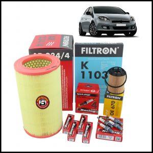 Kit Tagliando Filtri | Candele Per Fiat Bravo II 1.400 T-Jet 110kw/150cv dal 2007>