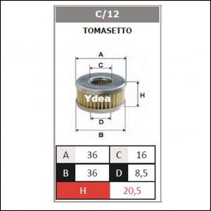 Filtro Gpl Impianto Tomasetto art.C/12