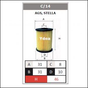 Filtro Gpl Impianto Ags,Stella art.C/14