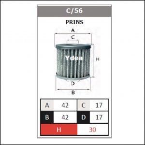 Filtro Gpl Impianto Prins art.C/56