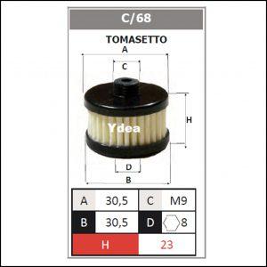 Filtro Gpl Impianto Tomasetto art.C/68