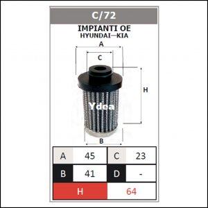 Filtro Gpl Impianto OE Hyundai,Kia art.C/72