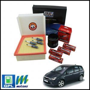 Kit Tagliando Filtri | Candele Per Ford C-Max 1.600 LPG 74kw/100cv dal 2007>