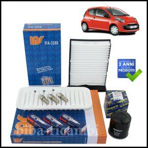 Kit Tagliando Filtri | Candele Per Citroen C1 1.000 50kw/68cv dal 2005>
