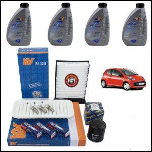 Kit Tagliando Olio | Filtri | Candele Per Citroen C1 1.000 50kw/68cv dal 2005>