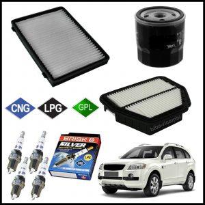 Kit Tagliando Filtri | Candele Per Chevrolet Captiva 2.400 LPG 100kw/136cv dal 2007>