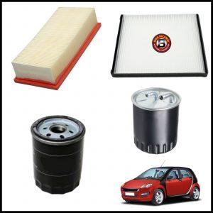 Kit Tagliando Filtri Per Smart ForFour (454) 1.500 CDI 50kw/68cv dal 2004>