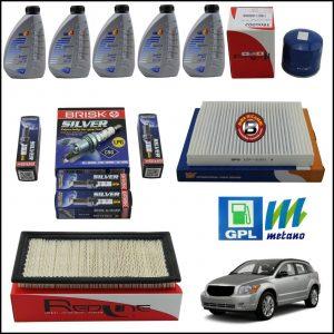 Kit Tagliando Olio | Filtri | Candele Per Dodge Caliber 1.800 GPL 110kw/150cv dal 2006>