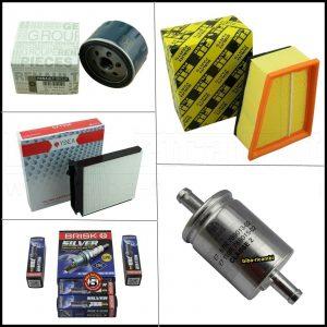 Kit Tagliando Filtri | Candele Per Dacia Duster I 1.600 GPL 77kw/105cv dal 2010> (Motori EURO 5)