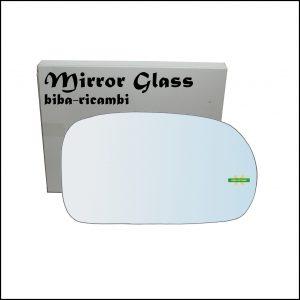 Vetro Specchio Retrovisore Cromato Lato Dx-Passeggero Per Suzuki Baleno (EG) dal 1995-2009