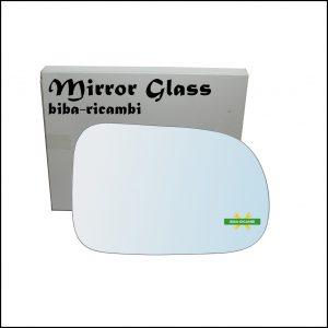 Vetro Specchio Retrovisore Cromato Lato Dx-Passeggero Per Suzuki Swift II (EA) solo dal 2003-2005