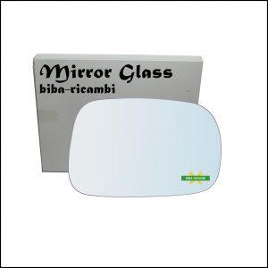 Vetro Specchio Retrovisore Cromato Lato Dx-Passeggero Per Suzuki Ignis II (MH) solo dal 2003-2008