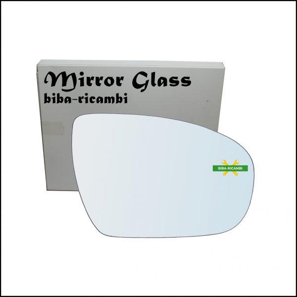 Vetro Specchio Retrovisore Lato Dx-Passeggero Per Hyundai i20 II (GB, IB) dal 2014>