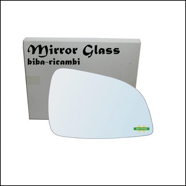 Vetro Specchio Retrovisore Cromato Lato Dx-Passeggero Per Opel Astra H (A04) solo dal 2009-2011 (specchio grande)
