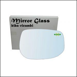 Vetro Specchio Retrovisore Cromato Lato Dx-Passeggero Per Honda Insight II (ZE) dal 2009>