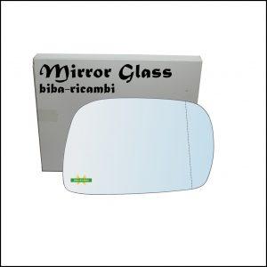 Vetro Specchio Retrovisore Asferico Lato Dx-Passeggero Per Suzuki Ignis I (FH) dal 2000-2005