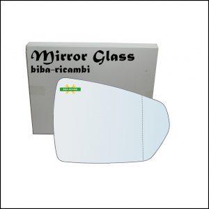 Vetro Specchio Retrovisore Asferico Lato Dx-Passeggero Per Audi A1 II (GB) dal 2018>