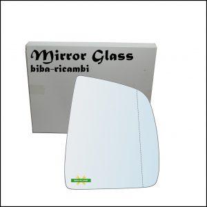 Vetro Specchio Retrovisore Asferico Lato Dx-Passeggero Per Fiat Doblo II (263) dal 2009>