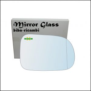 Vetro Specchio Retrovisore Cromato Asferico Lato Dx-Passeggero Per Suzuki Swift II (EA) solo dal 2003-2005