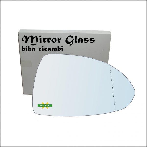 Vetro Specchio Retrovisore Cromato Asferico Lato Dx-Passeggero Per Opel Corsa E (X15) dal 2014>