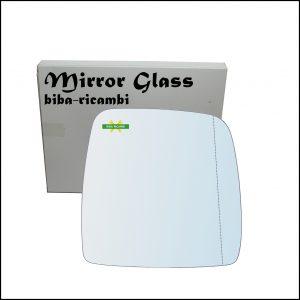 Vetro Specchio Cromato Asferico Lato Dx-Passeggero Per Suzuki Jimny I (SN) dal 1998-2006