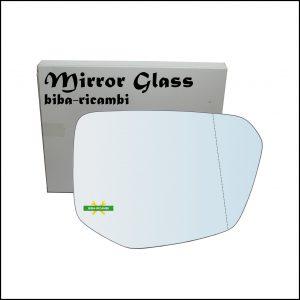 Vetro Specchio Retrovisore Asferico Lato Dx-Passeggero Per Honda Civic X (FC,FK) dal 2016>