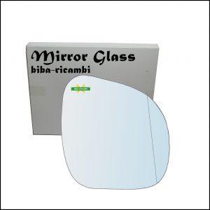 Vetro Specchio Retrovisore Asferico Lato Dx-Passeggero Per Citroen C3 I (FC) solo anno 2009