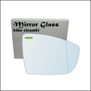 Vetro Specchio Retrovisore Asferico Lato Dx-Passeggero Per Ford C-max II (DXA) dal 2010>