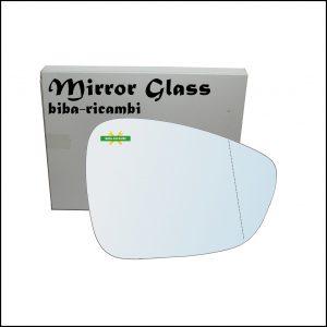 Vetro Specchio Retrovisore Asferico Lato Dx-Passeggero Per Citroen C3 Aircross I dal 2013>