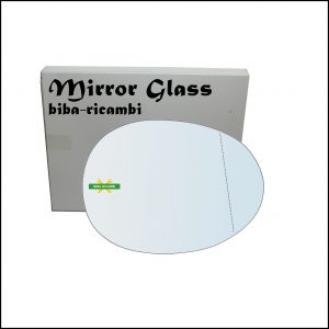 Vetro Specchio Retrovisore Asferico Lato Dx-Passeggero Per Citroen C1 I (PM) dal 2005-2014