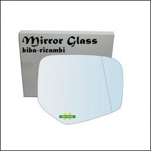 Vetro Specchio Retrovisore Asferico Cromato Lato Dx-Passeggero Per Mitsubishi L200 II (KA_T) dal 2004-2015