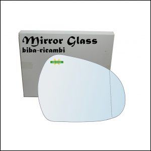 Vetro Specchio Retrovisore Asferico Lato Dx-Passeggero Per Peugeot 207 dal 2006>