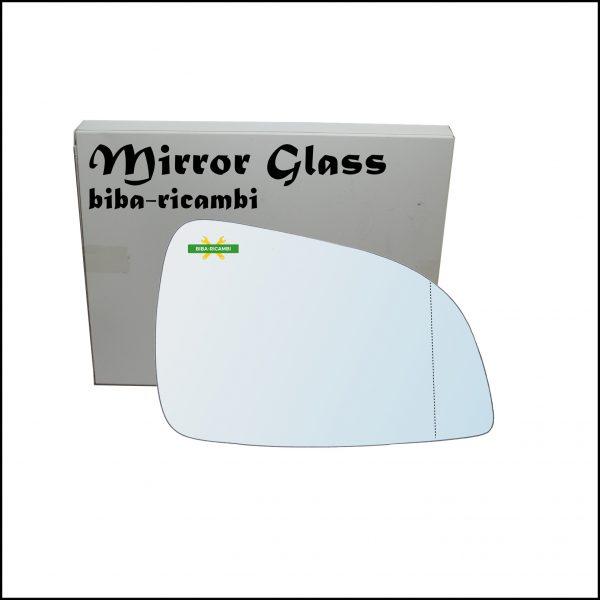 Vetro Specchio Retrovisore Cromato Asferico Lato Dx-Passeggero Per Opel Astra H (A04) solo dal 2009-2011 (specchio grande)