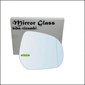 Vetro Specchio Retrovisore Cromato Asferico Lato Dx-Passeggero Per Suzuki Splash (EX) dal 2008>